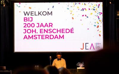 Jubileumfeest JEA 200 jaar!